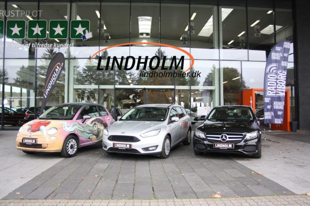 Alle tre biler m logo